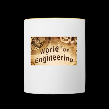 World of Engineering. - Mok tweekleurig