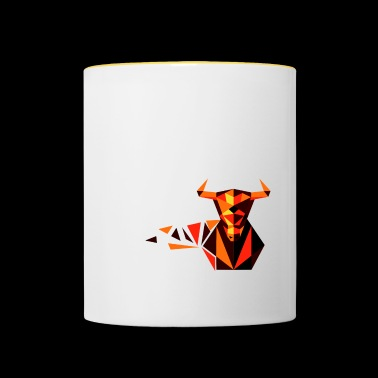 Bull of polygons - Contrasting Mug