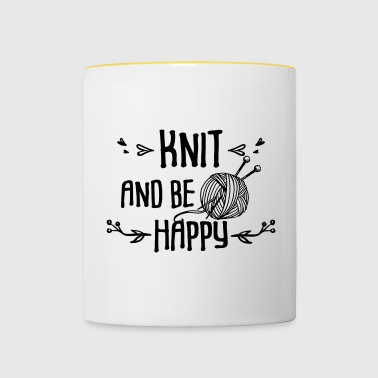 Knit and be happy - Tasse zweifarbig