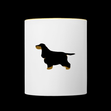 Cocker Spaniel (Black and Tan) - Contrasting Mug