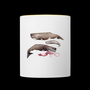 Sperm whales - Sperm whales - Cachalots - Contrasting Mug