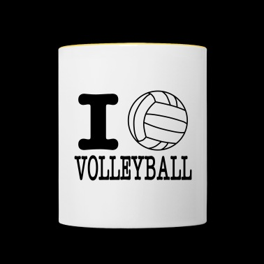 i love volleyball ball - Mok tweekleurig