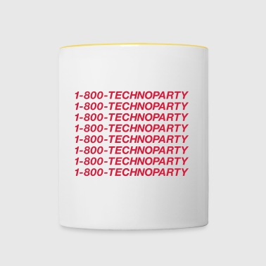 Techno Party Line - Tasse bicolore