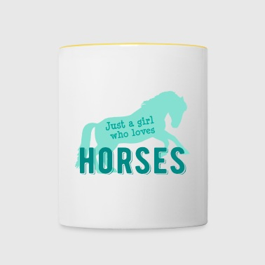 Just a girl who loves horses - horse riding stable - Contrasting Mug
