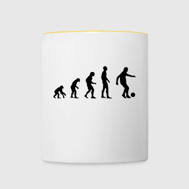 Evolution football gift dribbling football game - Contrasting Mug