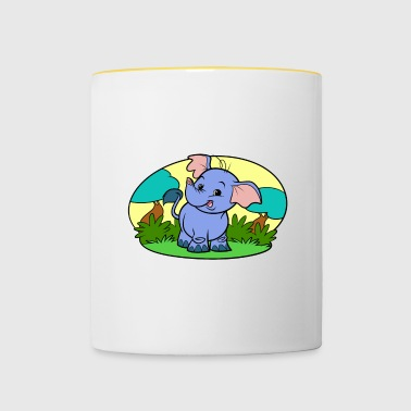 Tiny Elephant Art Collection - Contrasting Mug