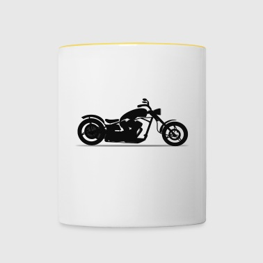 Motorcycle Chopper Silhouette - Mok tweekleurig