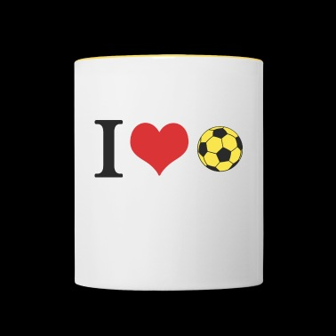 Football Germany black red gold - Contrasting Mug