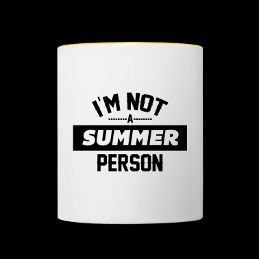 Not a summer person - Contrasting Mug