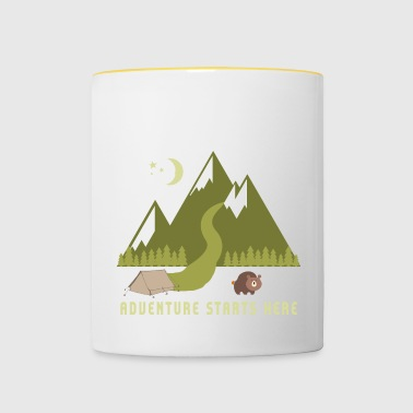 Camping Adventure Starts Here - Mug contrasté