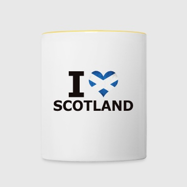 I LOVE SCOTLAND FLAG - Tasse zweifarbig