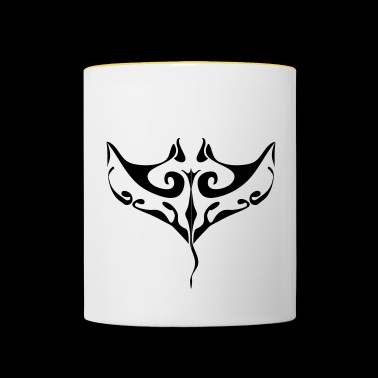 Manta ray tatoo - Contrasting Mug