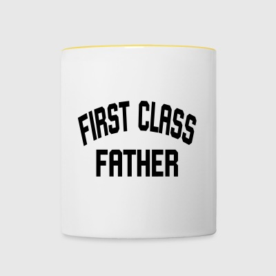 First Class Father - Contrasting Mug
