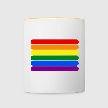 Rainbow Stripes - Mug contrasté