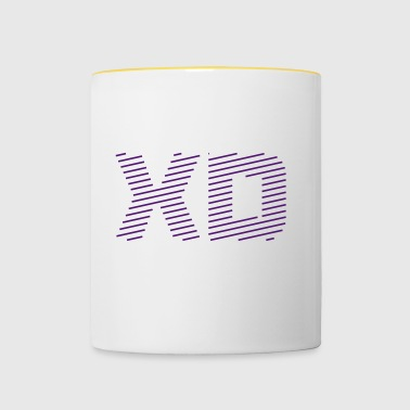 XD - the most popular word of the year 2017 - Contrasting Mug
