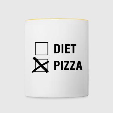 Pizza VS Diet Food Lover - Kaksivärinen muki
