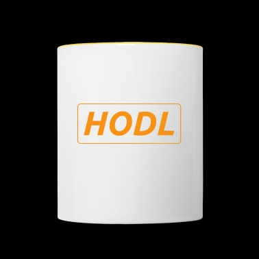 HODL - just a simple reminder - Contrasting Mug