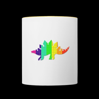 Stego colorful, rainbow colors, square pattern - Contrasting Mug