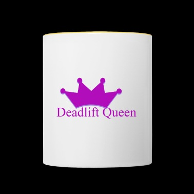 Deadlift queen - Tasse zweifarbig