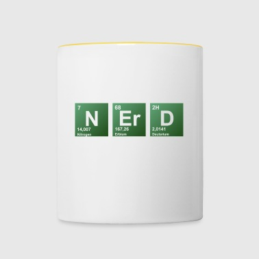 Nerd periodic table of elements - Contrasting Mug