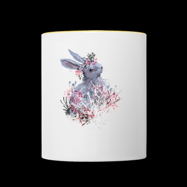 Hare in the forest - Contrasting Mug