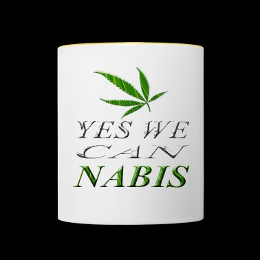 Yes we Cannabis - Tasse zweifarbig
