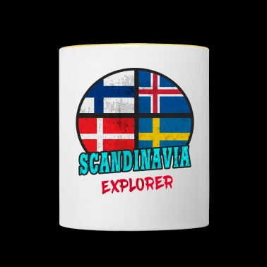 Scandinavie Explorer / Scandinavie / Cadeau - Mug contrasté