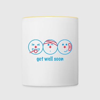 Get Well Soon - Tasse bicolore