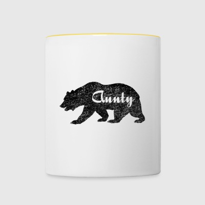 Aunty Bear. Aunite bear gifts for auntie. Camping - Contrasting Mug