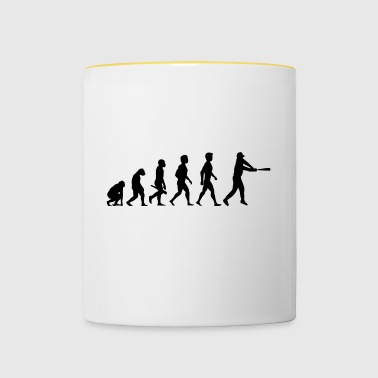 baseball softball basecap pitcher catcher player1 - Contrasting Mug
