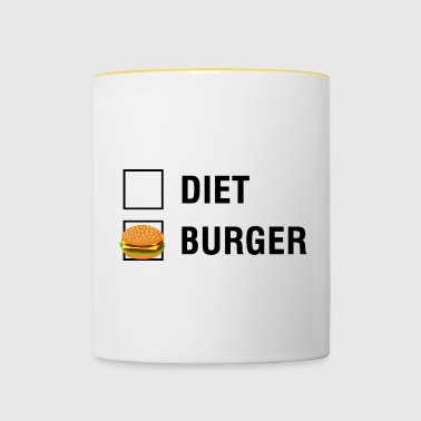 Burger VS Diet Food Lover - Kaksivärinen muki