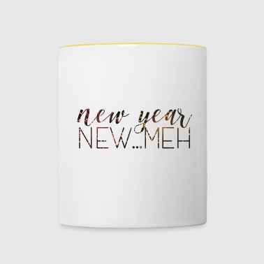 New Year's Eve / New Year. New ... Meh. - Contrasting Mug