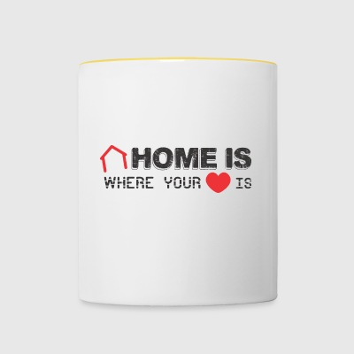 Home is Where your Heart Is - Contrasting Mug