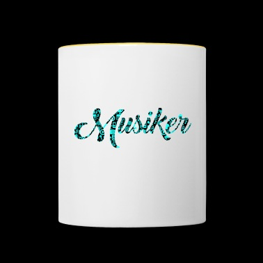 Musician Patterned Pattern Music Love - Contrasting Mug