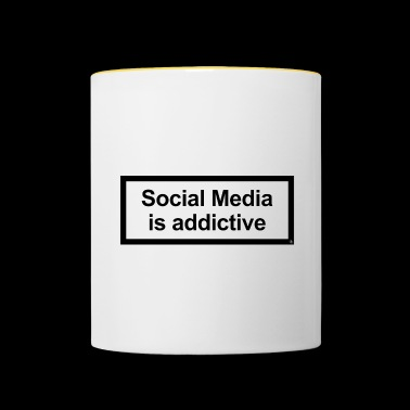 Social Media Is Addictive - Contrasting Mug