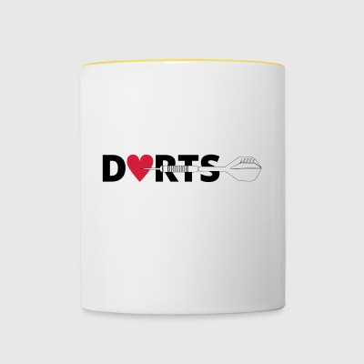 DARTS right in the heart - Contrasting Mug