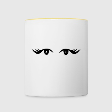 Beautiful eyes with beautiful eyelashes - Contrasting Mug