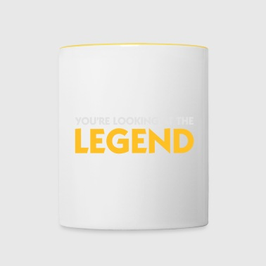 De legende is voor u! - Mok tweekleurig