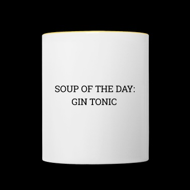 Soup of the Day: Gin Tonic - Contrasting Mug
