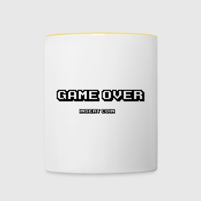 Game over insert coin - Contrasting Mug