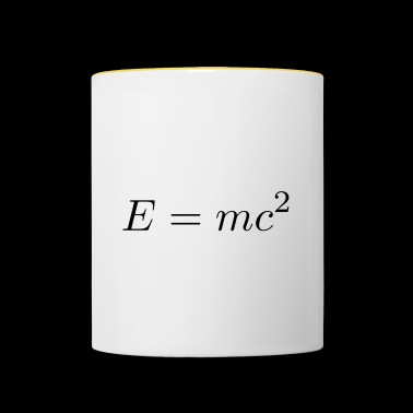 Equivalence of mass and energy - Contrasting Mug