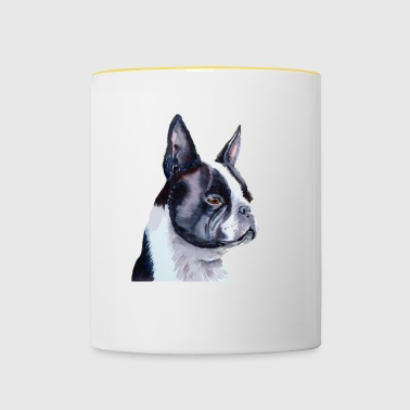 Boston terrier - Tasse bicolore
