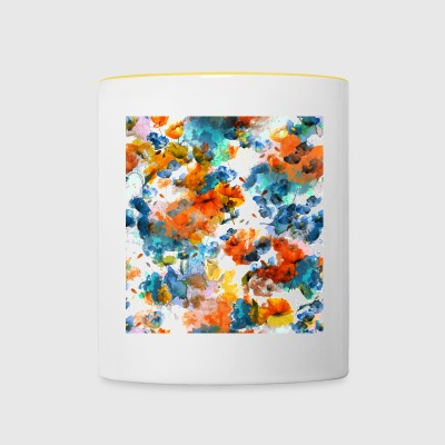 Watercolor flowers - Contrasting Mug