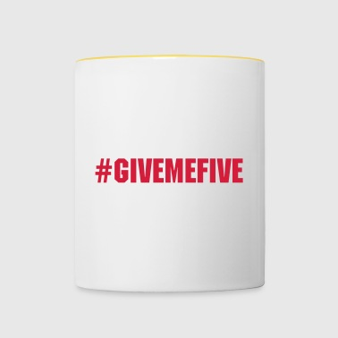 Give me Five - Tasse bicolore