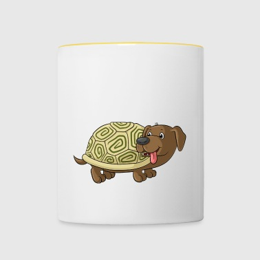 Cute cartoon Dachshund Toad - Contrasting Mug