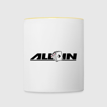All In Poker Funny - Kubek dwukolorowy