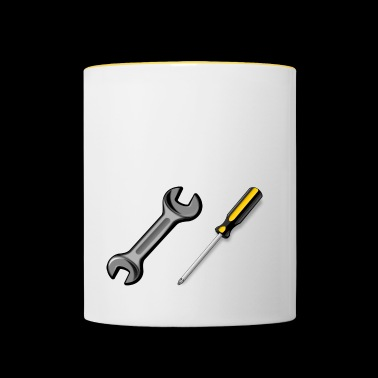 Occupation / Job / Job / Tool - Contrasting Mug