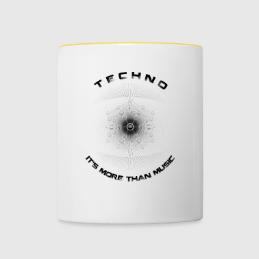 TECHNO - IT'S MORE THAN MUSIC - Tasse zweifarbig