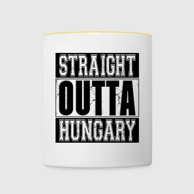 Straight Outta Hongrie 001 dessins ronds - Tasse bicolore