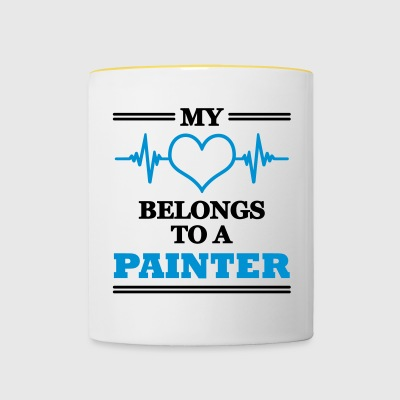 My heart belongs to a painter - Contrasting Mug